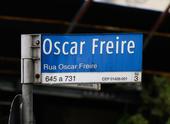 Placa de rua Oscar Freire
