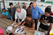 Visita ao abrigo de Venezuelanos