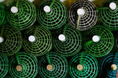 Handmade wine bottles