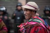 Manifestation in La Paz in Bolivia