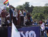 Concentração ao presidente Evo Morales