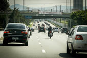 Proibido motos na expressa da marginal