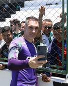 Treino do Palmeiras em Fortaleza