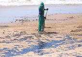 Manchas de oléo nas praias de Salvador