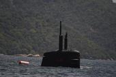 Submarino Riachuelo teste de imersão