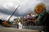 Preparativos para desfiles Carnaval SP