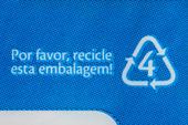 Símbolos de reciclagem em embalagens